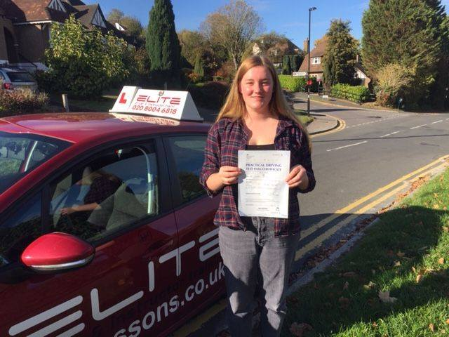 Isabel passed first time after taking lessons with Sue