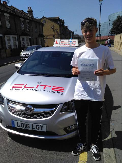 James passed his test after taking driving lessons with Paul in Croydon