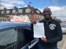 Koffi passed after lessons with instructor Moh