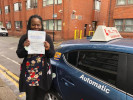 S Serrette passed after taking automatic lessons in Croydon with Moh