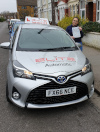 Charlie passed after taking automatic driving lessons in Croydon