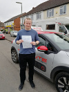 Marc passed his test at Reigate after taking lessons with Pierluigi