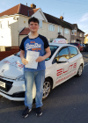 Matt passed his test after taking lessons with Kim