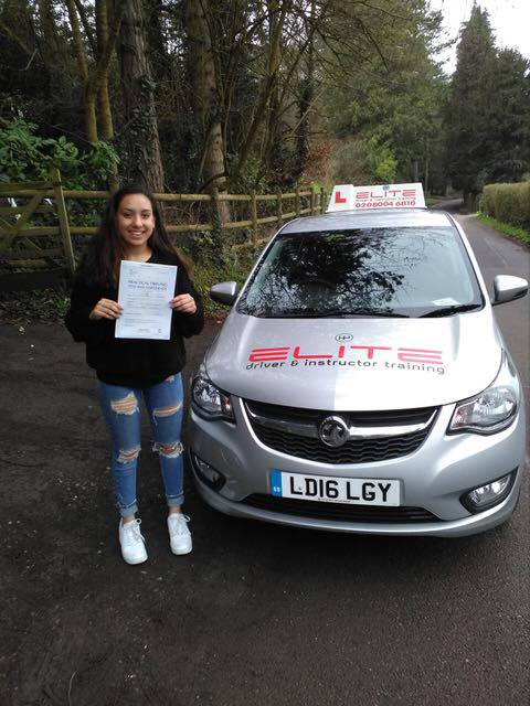 Neve passed after taking driving lessons in Croydon with Paul