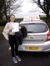 Melisa passed at Redhill after taking lessons with Paul