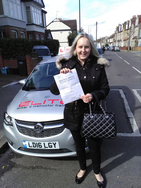 Rebecca Passed with PAul in Croydon