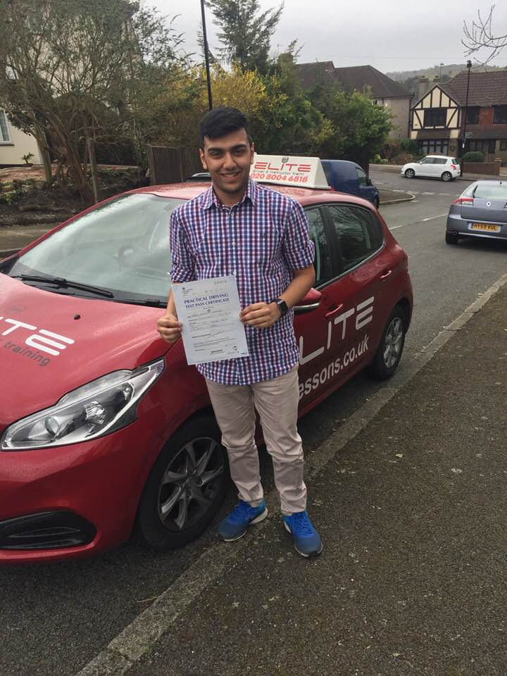 Jason passed after taking driving lessons with Sue in Coulsdon