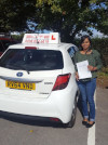 Thavaneya passed her test first time at Redhill after taking lessons with Andy
