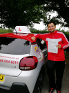 Franco passed first time at Redhill after taking lessons with Pieluigi