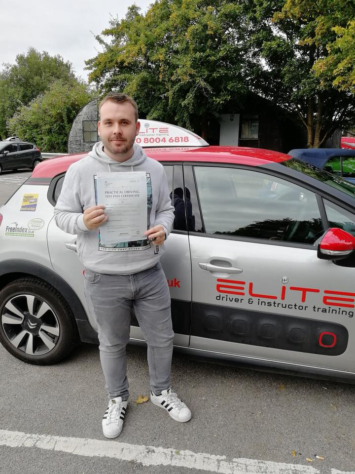 Will passed his driving test after taking driving lessons with Pierluigi