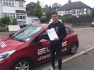 Zak passed his test first time after taking driving lessons with Sue