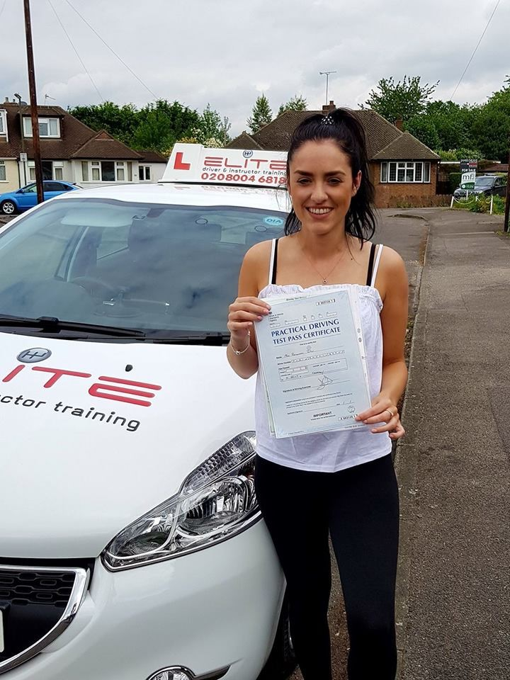 Rhiannon passed her test first time after lessons with Paul